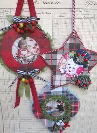 rhondamum manly plaid ornaments