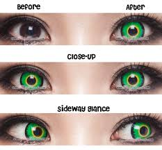 cosplay green werewolf contacts before after fairy costume