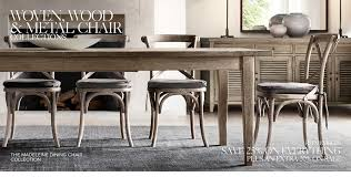 Farmhouse Table And Chairs For Sale Wood Metal U0026 Woven Chair Collections Rh