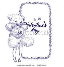 Sketch Birthday Card Pencil Sketch Template Design Greeting Card Stock Vector 542916445