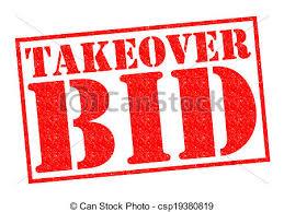 takeover bid takeover bid rubber st a white background clipart