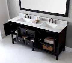 virtu usa 72 inch winterfell double sink vanity in espresso with