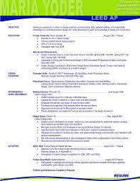 Resume Samples For Interior Designers by Maria Yoder Resume