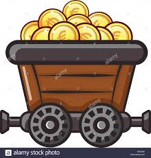 trally money trolley icon flat illustration of money trolley vector icon