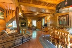 aspen leaf log cabin
