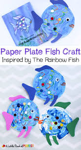paper plate fish craft inspired rainbow fish perfect