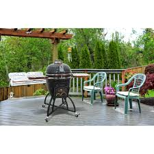 Topgrill Patio Furniture by Icon Grills Cg101 Table Top Charcoal Kamado Grill Hayneedle
