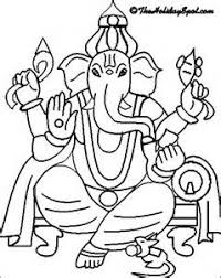 ganesha free coloring pages
