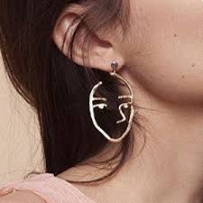 human earrings 7 99 zealmer statement human shaped earrings hollow out