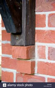 Corbelled Brick Corbelling Used As A Support For A Wooden Beam In A Brick Wall