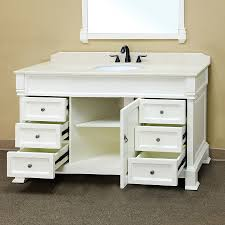 Bellaterra Home SAWHITE Bathroom Vanity Antique Single - Bella 48 inch bathroom vanity white