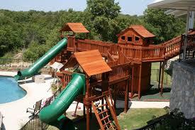 custom backyard swing sets u0026 treehouses backyard fun factory
