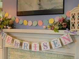 easter religious decorations easter decorations he is risen easter banner garland