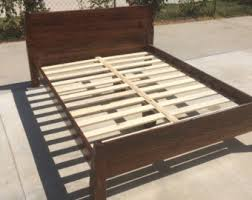King Wood Bed Frame The Grey Weathered Reclaimed Wood Bed Frame