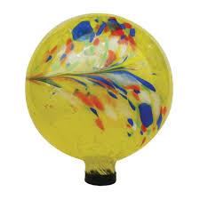 Garden Gazing Globe Garden Odyssey 10inches Glass Gazing Globe Yellow Swirl Free