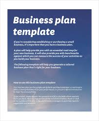 basic business plan templates 9 free pdf format download