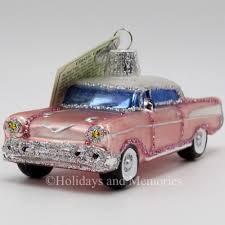 1957 classic pink car merck world ornament 46023