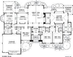 one story luxury house plan 4 bedroom large kitchen and huge