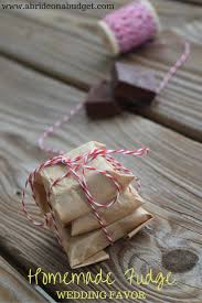 homemade fudge wedding favor homemade wedding and favors