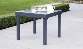 salon jardin 8 personnes table de jardin carrée extensible grise anthracite 4 à 8 personnes
