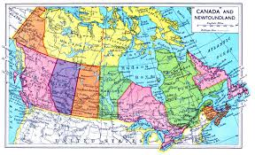 Map Of Canada And Alaska by Map Of Canada And Newfoundland 1949 Jpg