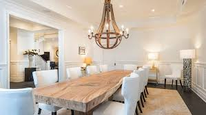 concrete and wood dining table concrete and wood dining table dining room transitional with live