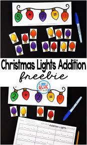 christmas lights addition printable math worksheets christmas