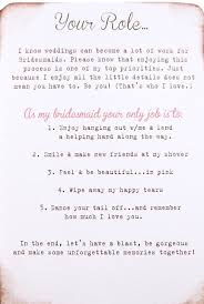 bridesmaids invites bridesmaid duty cards wedding ideas
