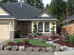 awesome front yard landscaping ideas with boulders