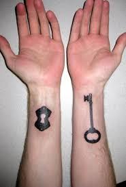 55 attractive key wrist tattoos