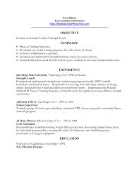 personal trainer resume objective cover letter trainer resume exle trainer resume exles