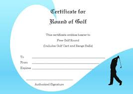 adorable golf certificates for professional players free