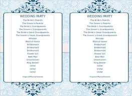 flat wedding programs wedding program template 64 free word pdf psd documents