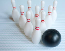 bowling cake toppers bowling pin candles cupcake cake toppers bowling novelty