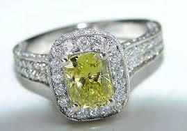 diamond rings sale images Yellow diamond antique ring jpg