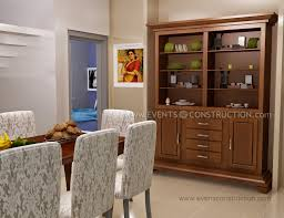 Dining Room Shelves Simple Kerala Dining Room With Crockery Shelf Living Room