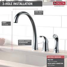 delta classic kitchen faucet delta chrome kitchen faucet huetour club