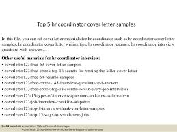Hr Coordinator Resume Sample Top 5 Hr Coordinator Cover Letter Samples 1 638 Jpg Cb U003d1434616350