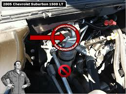2005 chevrolet suburban 1500 low side port for a c recharge