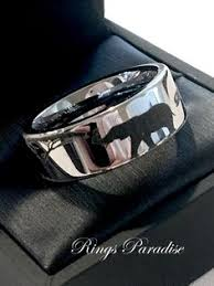 the bears wedding band bears in mountains forest landscape black tungsten wedding band