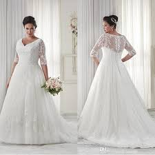 plus size wedding dresses cheap discount modest plus size wedding dresses sleeves v neckline court
