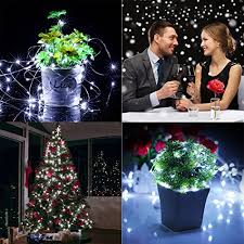 2 set fairy lights battery operated waterproof with remote control