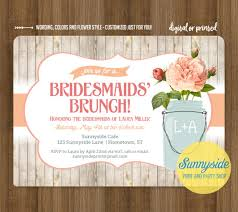 bridesmaids brunch invitations bridesmaids brunch invitation rustic jar brunch