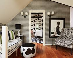 Black And White Room Houzz - Black and white family room