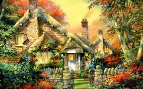 Cottage Houses Houses Lovely Cottage House Haydens Glade Architecture Painting