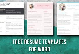 Download Free Resume Templates For Word Free Resume Templates For Word On Behance