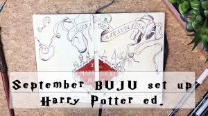 plan with me september bullet journal set up harry potter edition