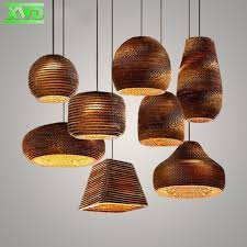 Paper Pendant Lights Rural Style Indoor Foyer Paper Pendant Lamp Coffee House Dining