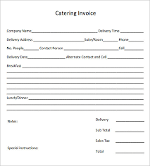 catering invoice sample 16 documents in pdf