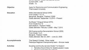exle of resume for college application stirring high schoolmple resume resumes for highschool